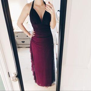 Purple ombre prom dress